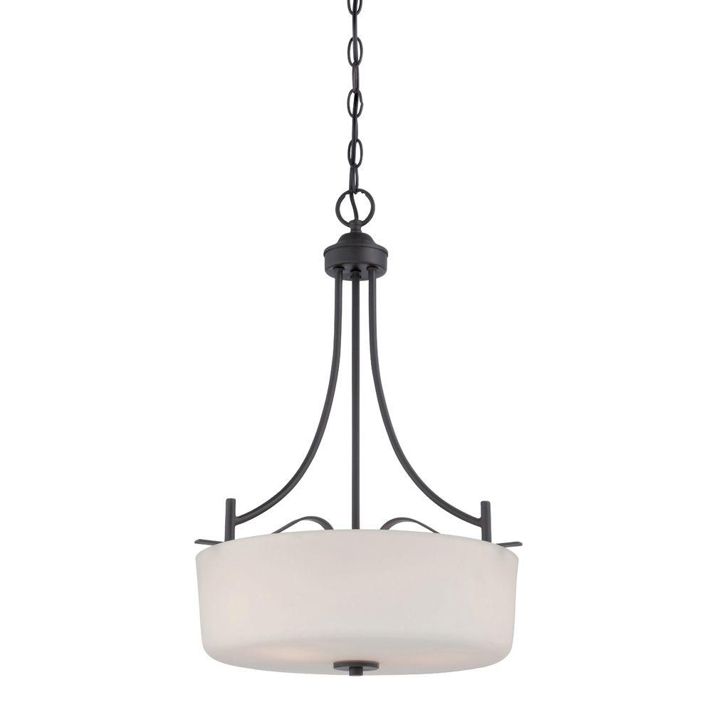 Designers fountain cassina 3 light biscayne bronze pendant for Cassina lighting