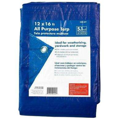 10 ft. x 12 ft. Blue General Purpose Tarp