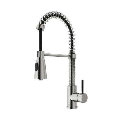Brant Single-Handle Pull-Down Sprayer Kitchen Faucet in Stainless Steel