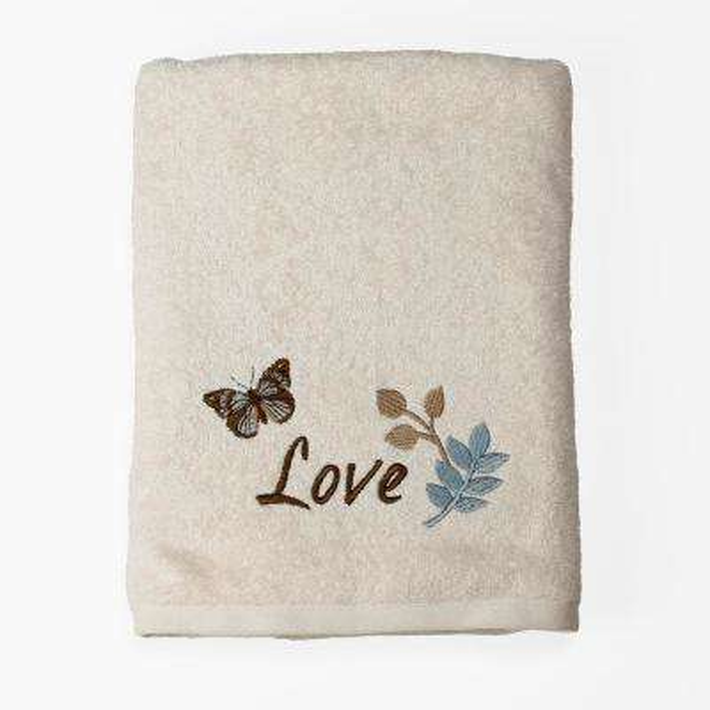 Faith Freestanding Bath Towel in Ivory