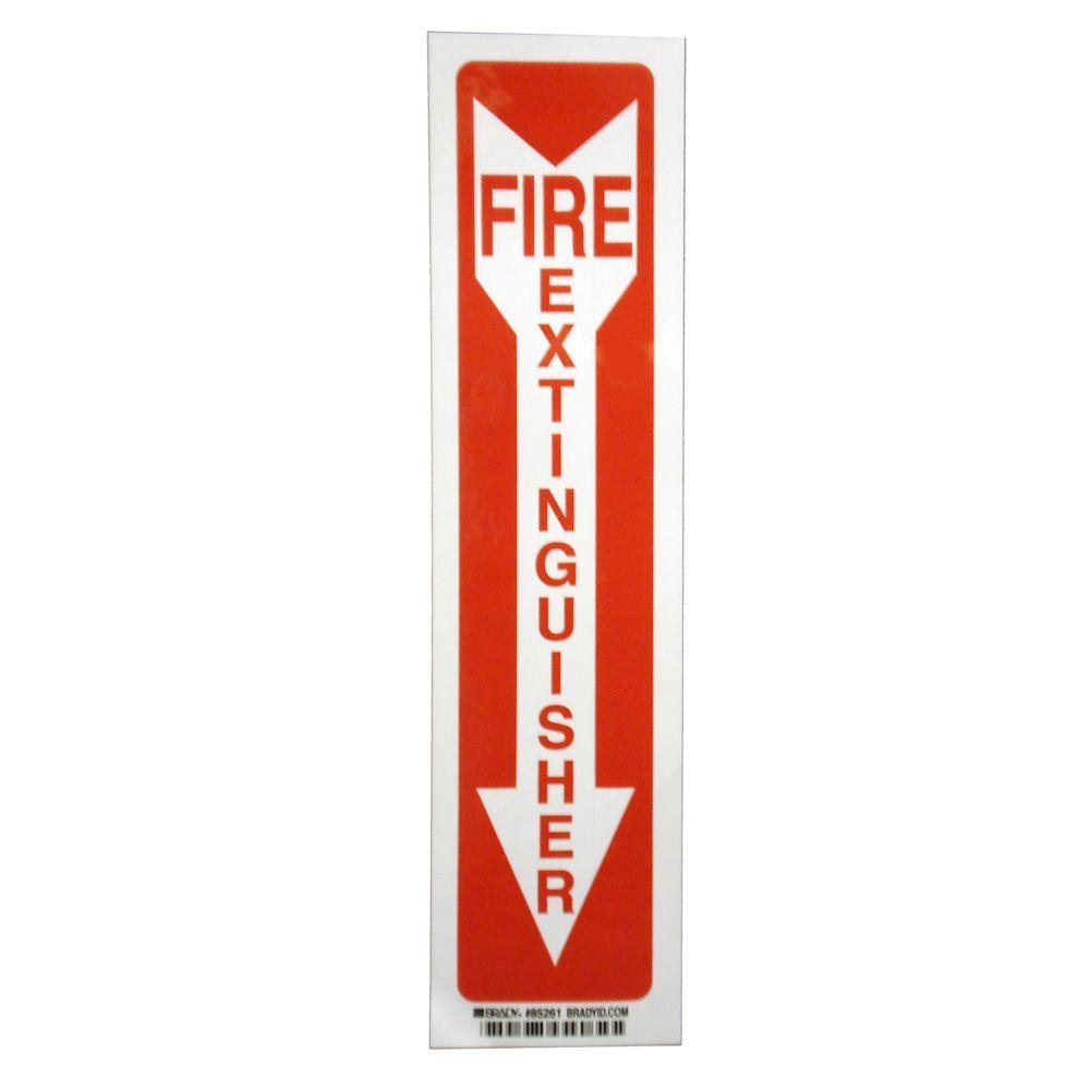 14 in. x 3-1/2 in. Fiberglass Fire Extinguisher Sign
