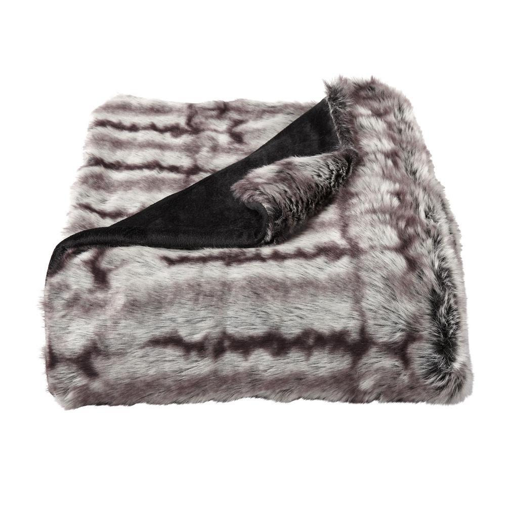 Oversized Premium Chocolate Brown Fashion Faux Chinchilla Hypoallergenic Throw Blanket