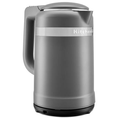 6.3-Cup Matte Charcoal Grey Electric Kettle with Dual Wall Insulation