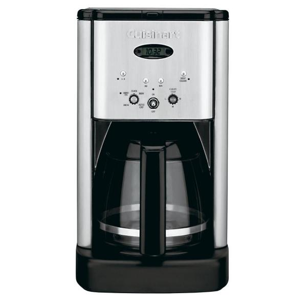 Brew Central 12-Cup Stainless Steel Drip Coffee Maker with Glass Carafe