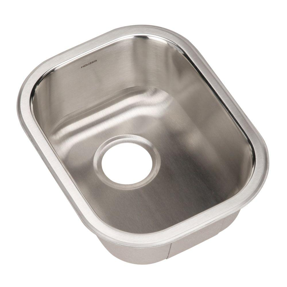 HOUZER Club Series Undermount Stainless Steel 17 In. Single Bowl Bar/Prep  Sink CS 1407 1   The Home Depot