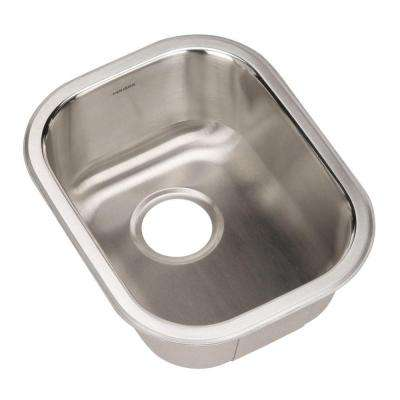 Club Series Undermount Stainless Steel 17 in. Single Bowl Kitchen Sink in Lustrous Satin