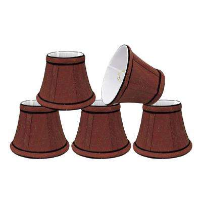 5 in. x 4 in. Rust and Black Accent Bell Lamp Shade (5-Pack)