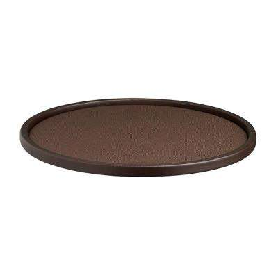 Cosmopolitan 14 in. Round Serving Tray in Mocha