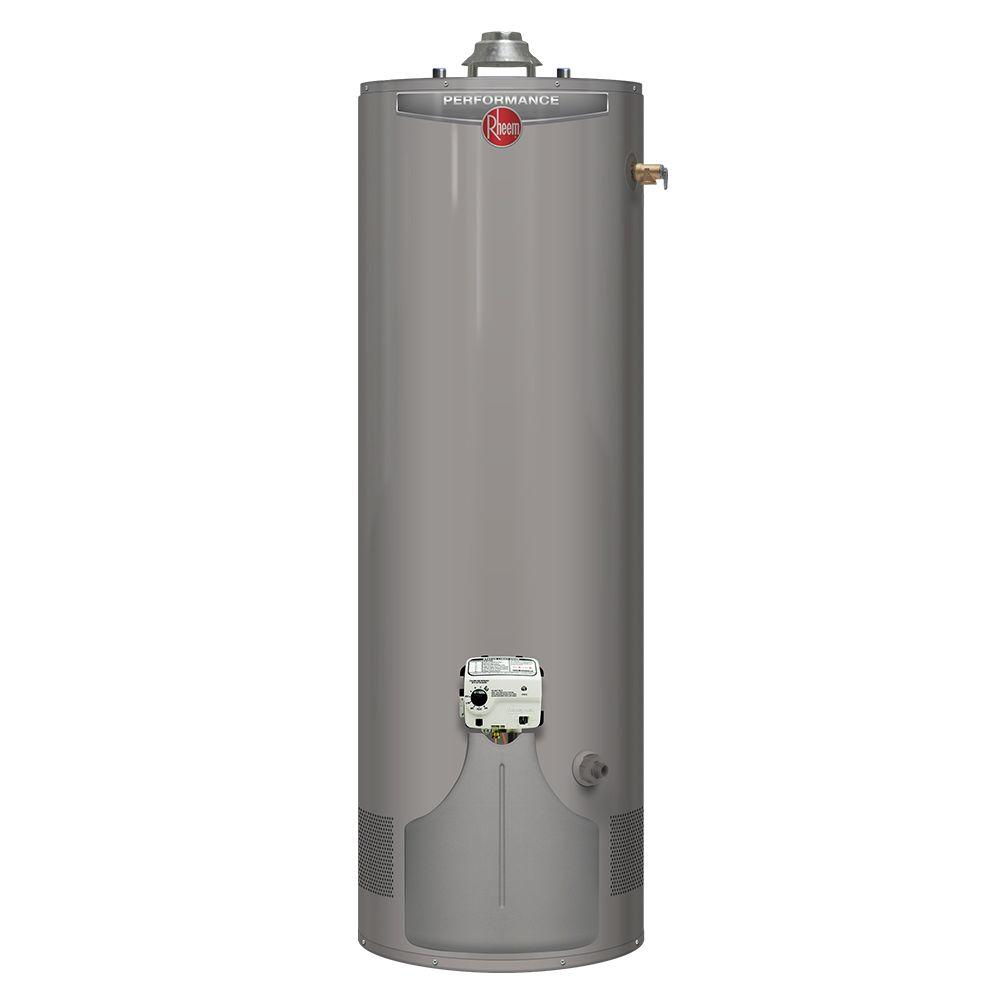 Rheem performance 55 gal tall 6 year 45 000 btu ultra low Natural gas water heater