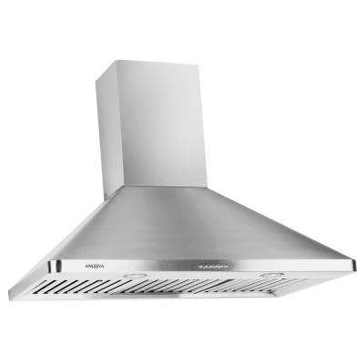 WPC636 36 in. Wall Mount Range Hood with LED in Stainless Steel
