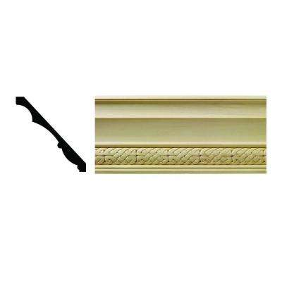 1604 1/2 in. x 5-1/4 in. x 6 in Hardwood White Unfinished Celtic Crown Moulding Sample