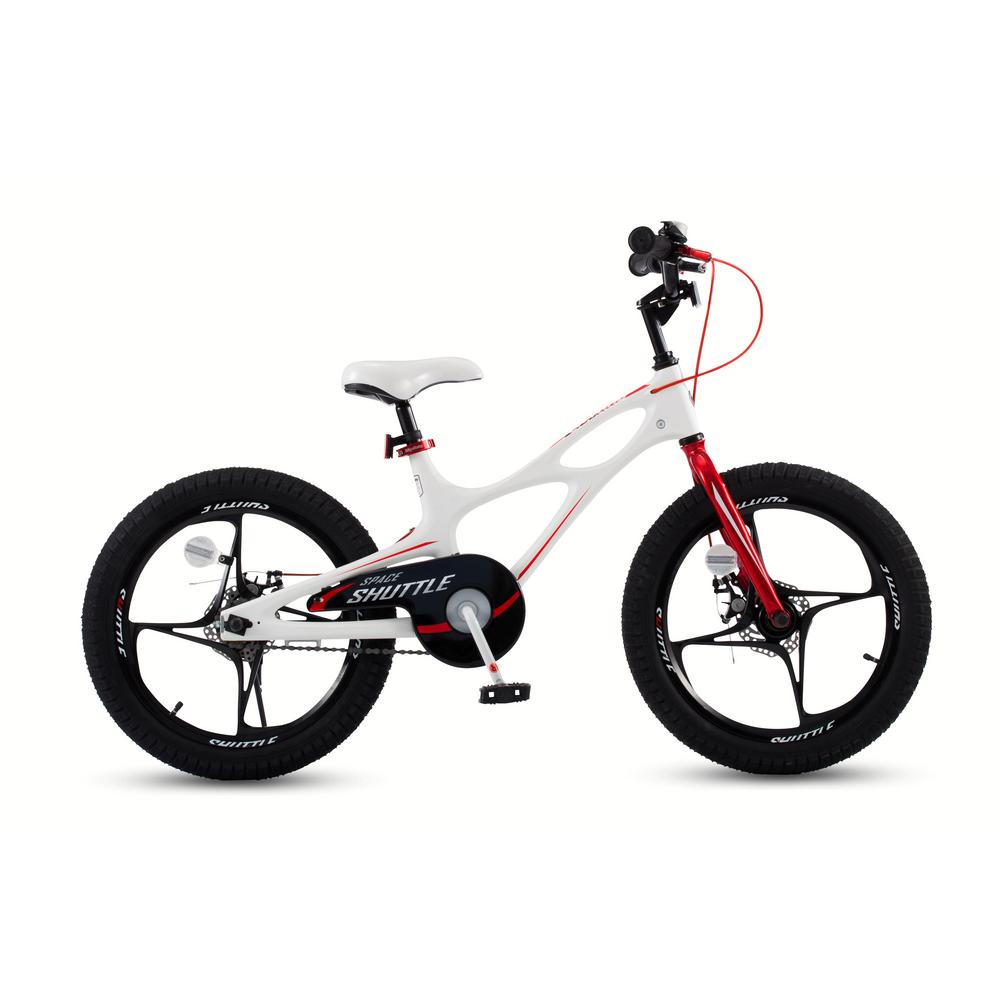 3a9eafe146a4 Royalbaby 18 in. Magnesium Space Shuttle Kid's Bike in White-RB18 ...