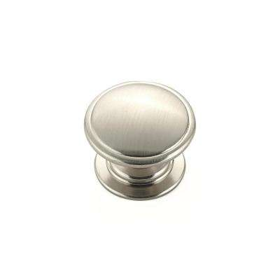 Traditional 1-1/4 in. Satin Nickel Round Knob