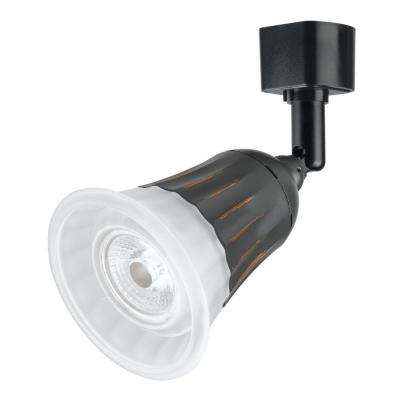 6 in. Black LED Dimmable Track Lighting Head