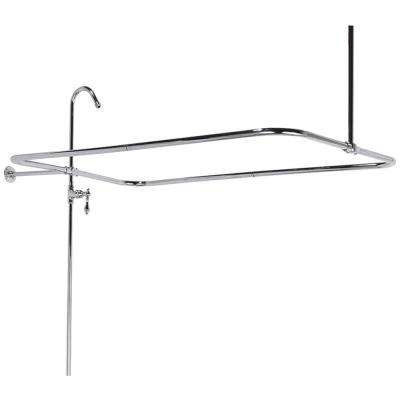 60 in. x 31 in. End Mount Shower Riser with Enclosure in Satin Nickel