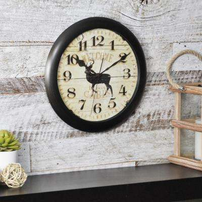 11 in. Round Buck Slim Wall Clock
