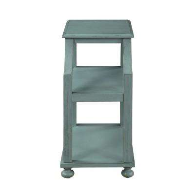 Lilith Blue Rub Chairside Accent Table