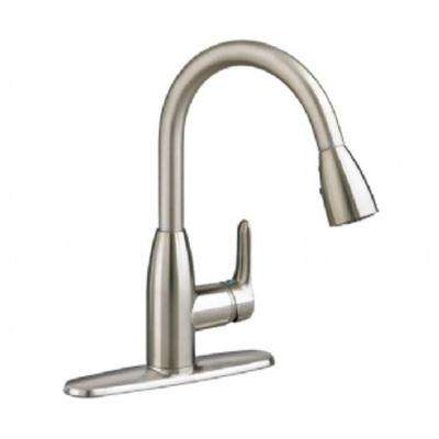Colony Soft Single-Handle Pull-Down Sprayer Kitchen Faucet in Stainless Steel