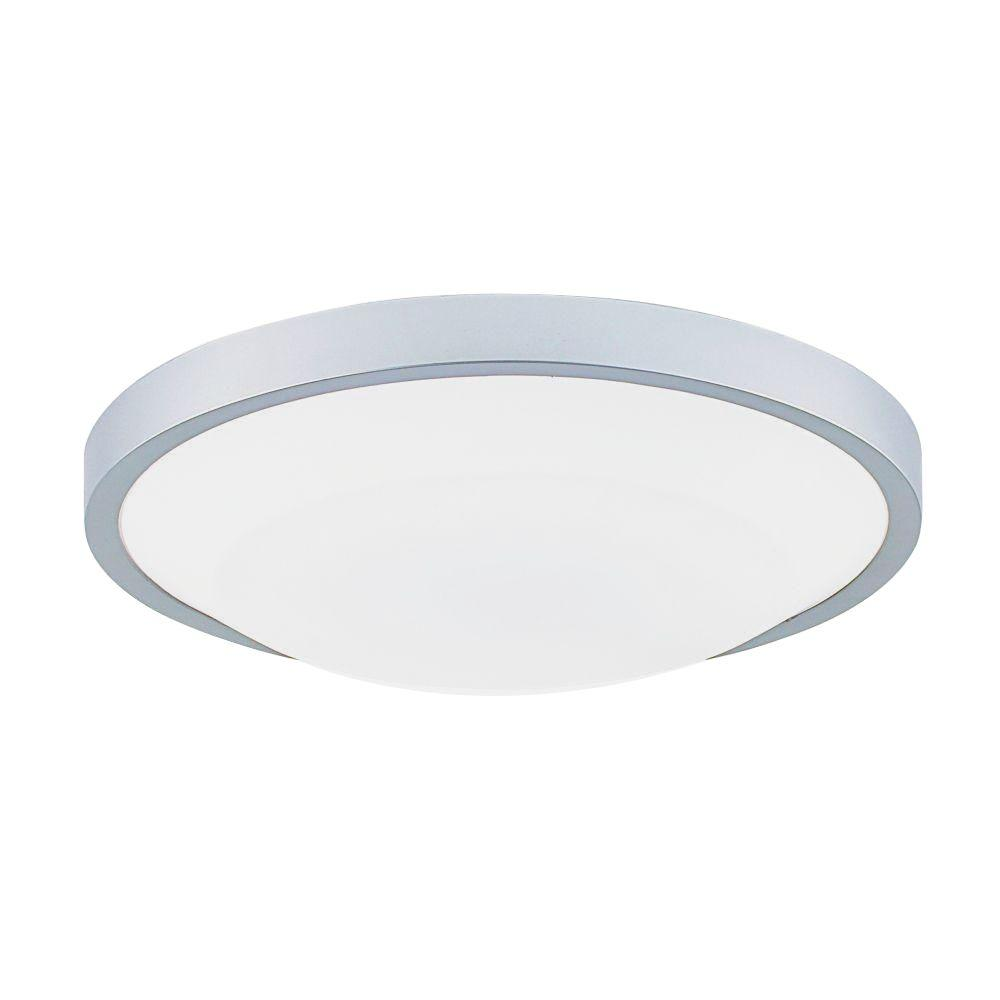 Eurofase Look Collection 1-Light Flush Mount Silver Light-DISCONTINUED