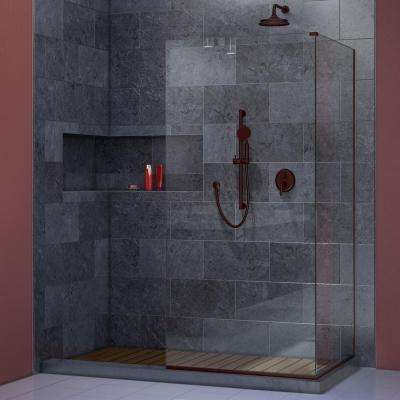 Linea 30 in. x 72 in. Semi-Framed Fixed Shower Door in Oil Rubbed Bronze