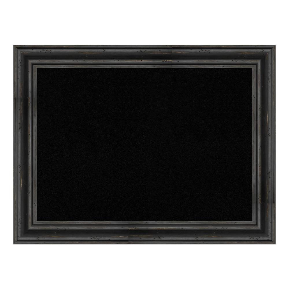 Rustic Pine Black Framed Black Cork Memo Board