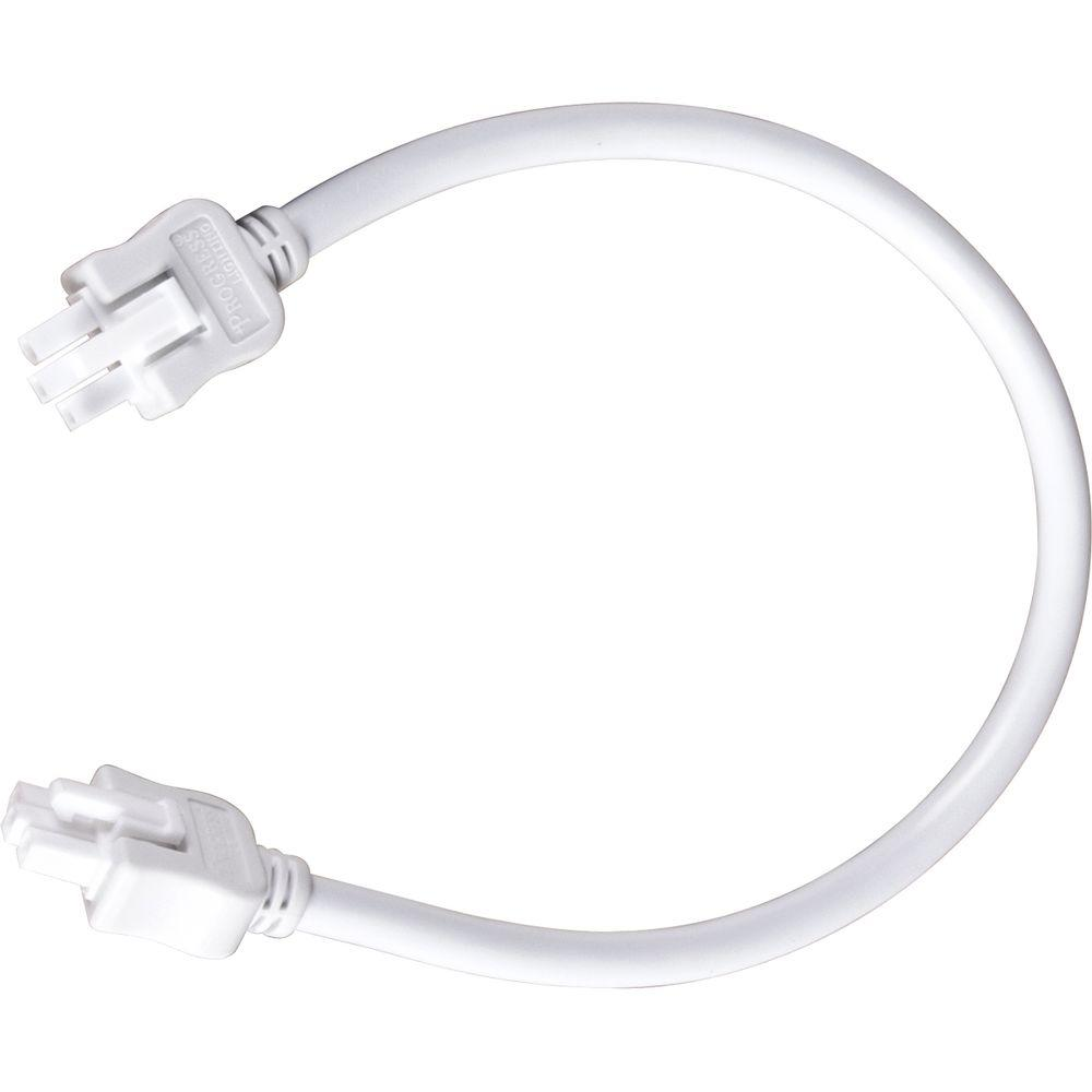 Progress Lighting Hide-a-Lite III Collection White 12 In. Linking Cable