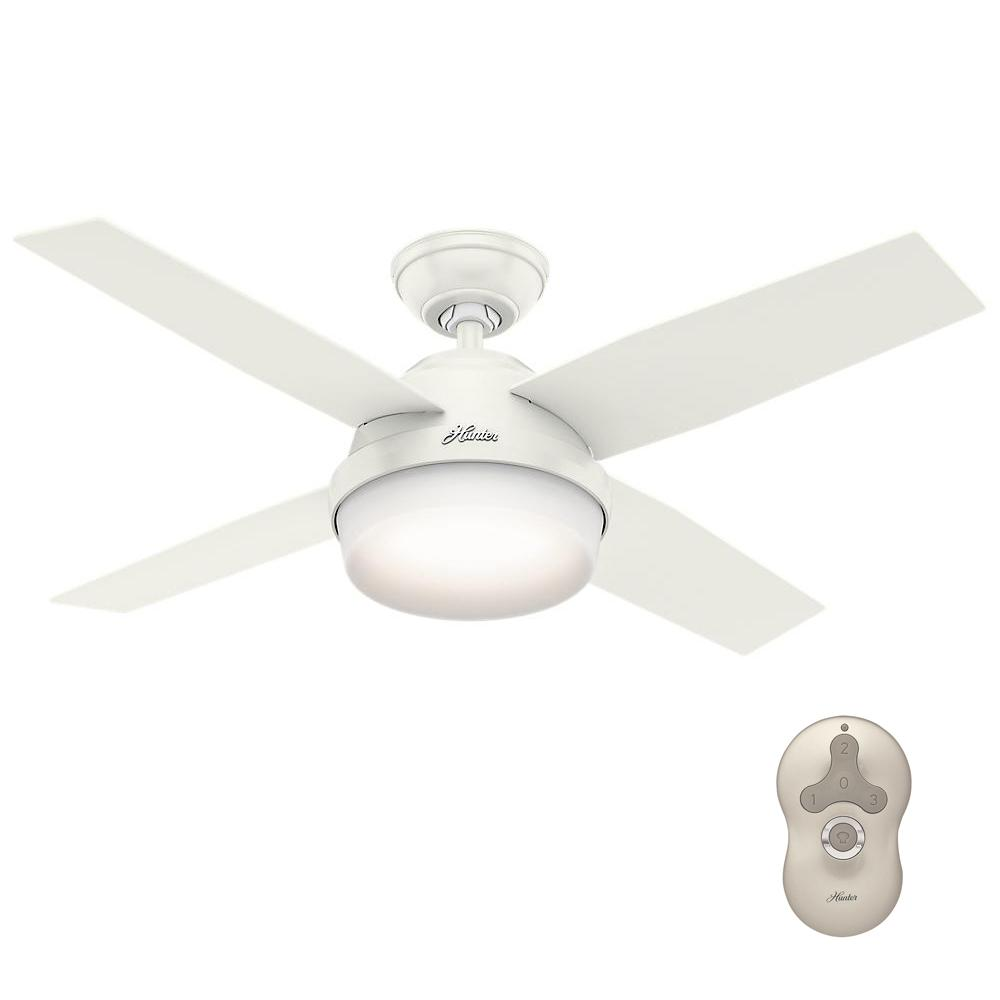 Dempsey 44 in. LED Indoor Fresh White Ceiling Fan with Universal