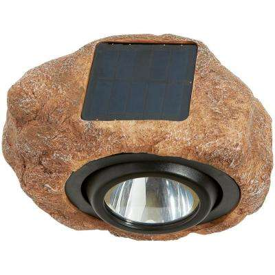 1-Light Solar Outdoor Integrated LED Rock Spot Light