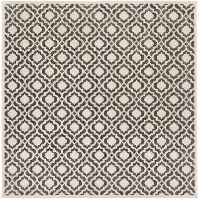 Mangiu Ivory 8 ft. x 8 ft. Indoor/Outdoor Square Area Rug