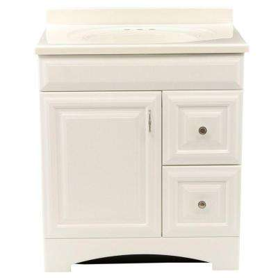 Providence 30 in. Vanity in White with 31 in. Cultured Marble Vanity Top in White