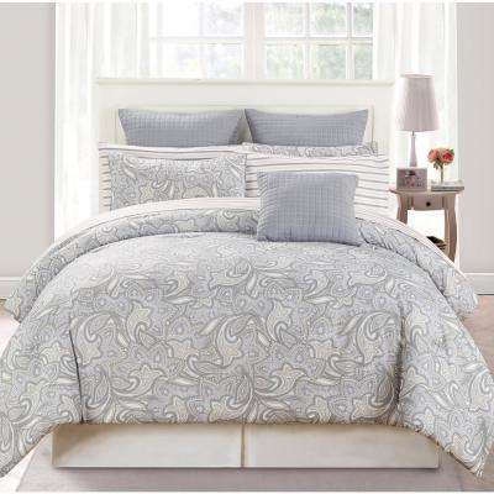 Mathylda 10-Piece Taupe Queen Comforter Set