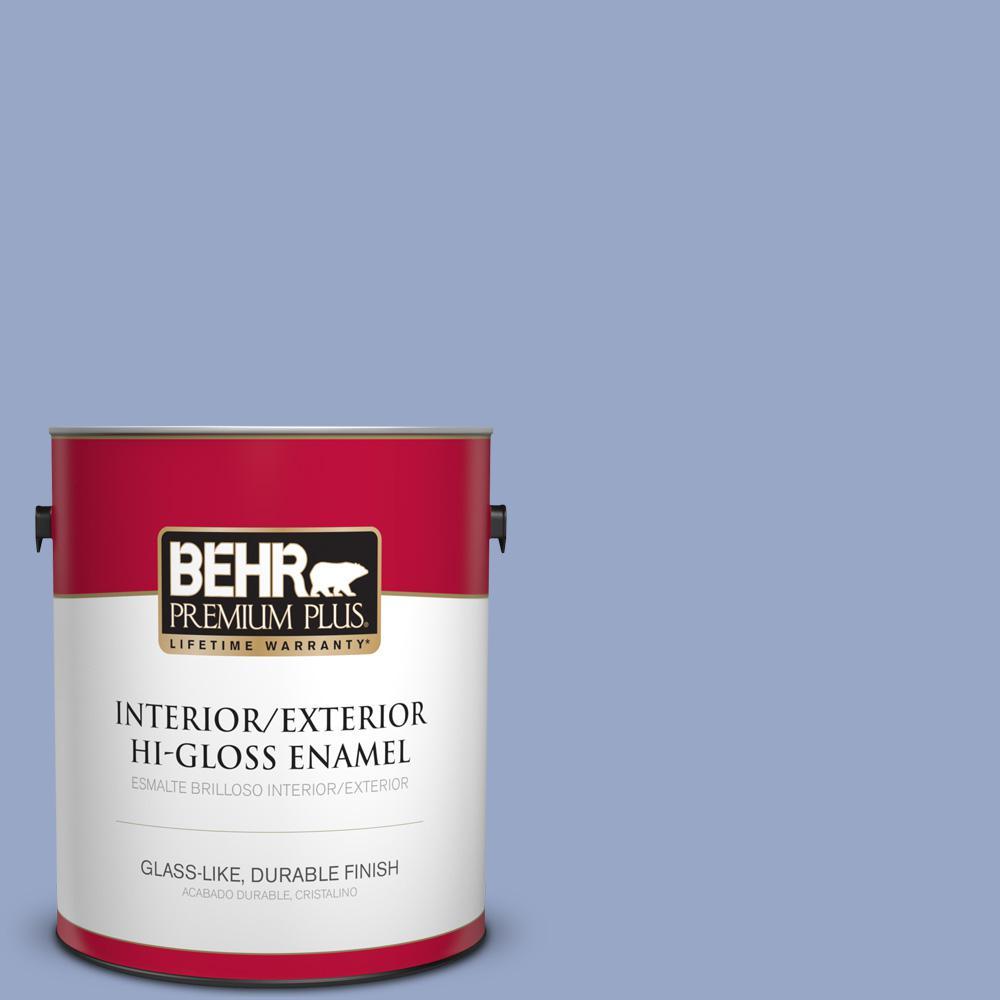 1 gal. #PPU15-13 Blue Hydrangea Hi-Gloss Enamel Interior/Exterior Paint