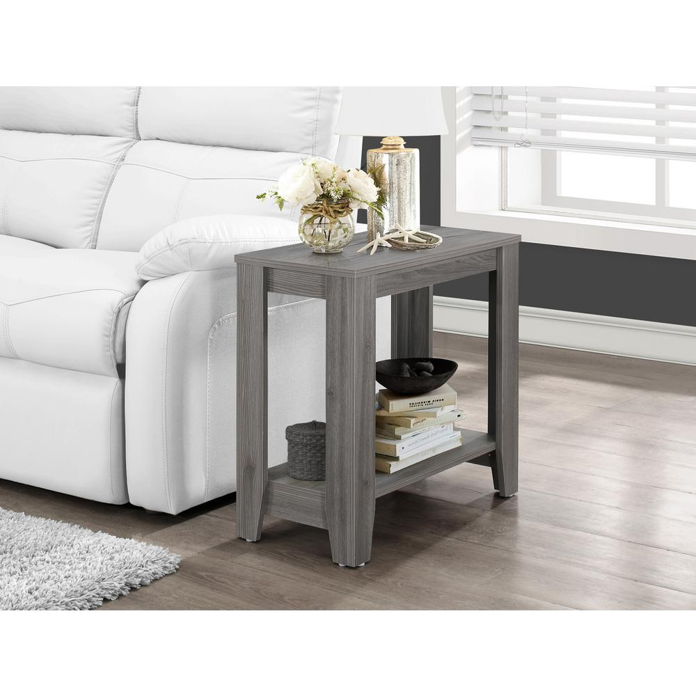 Beau Monarch Specialties Gray End Table
