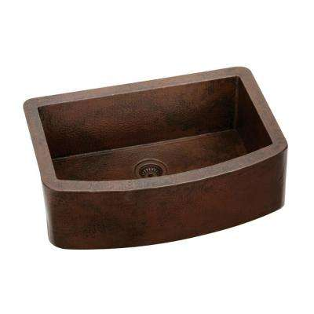 Harmony Undermount Copper 33 in. Single Bowl Kitchen Sink