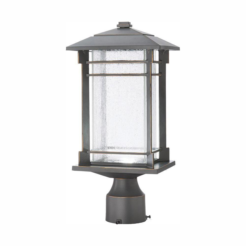 Home Decorators Collection Outdoor Oil Rubbed Bronze Integrated LED Post Light
