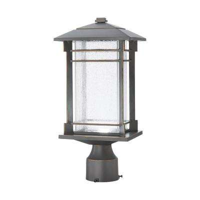 Outdoor Oil Rubbed Bronze Integrated Led Post Light