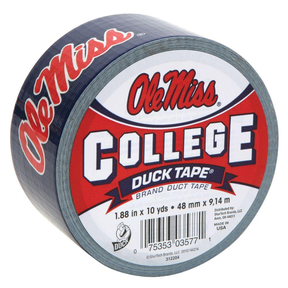 College 1-7/8 in. x 30 ft. Ole Miss Duct Tape (6-Pack)
