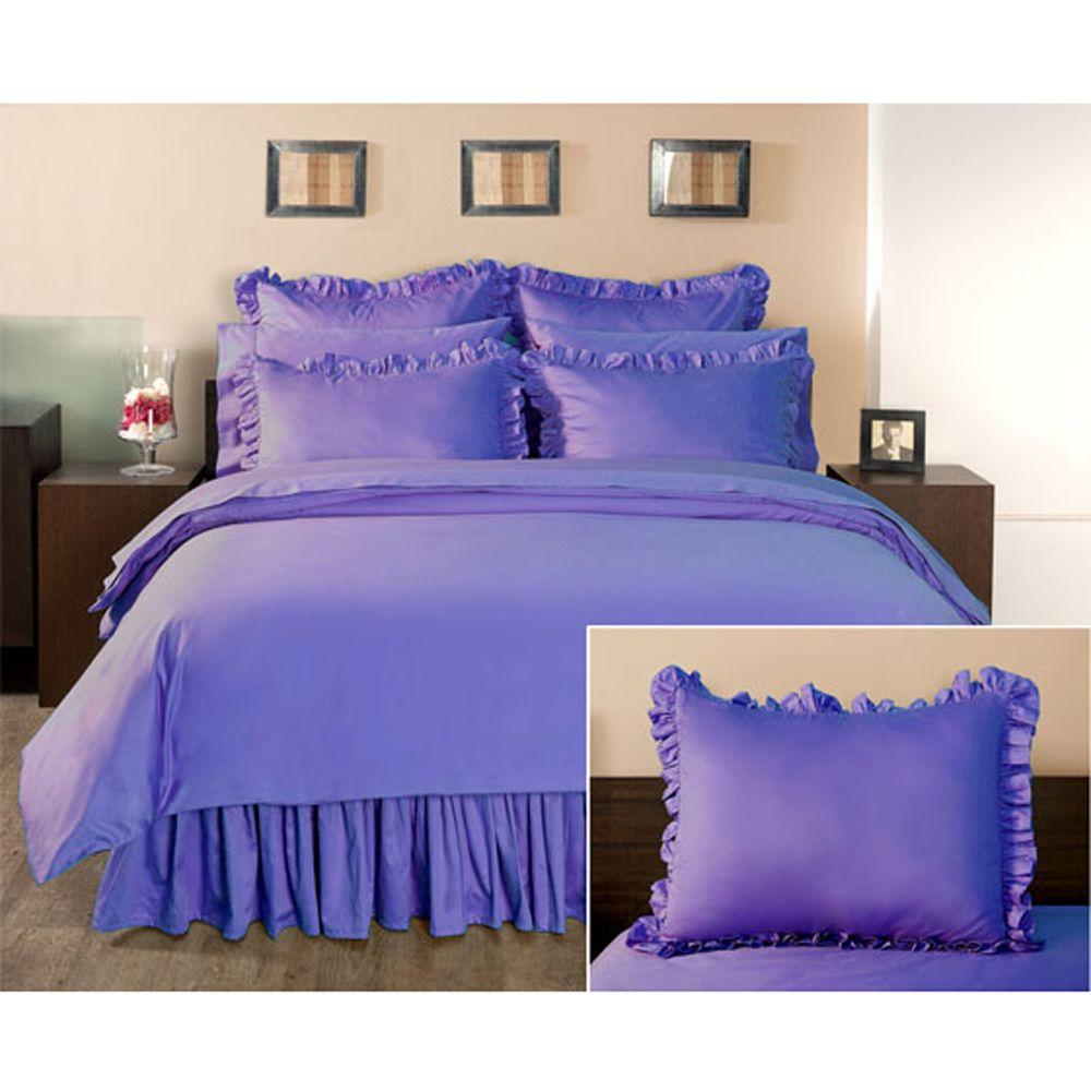 Home Decorators Collection Ruffled Lapis Lazuli Standard Sham