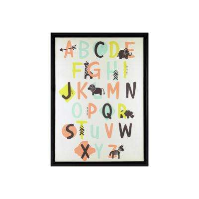 12.5 in. x 15.5 in. Alphabet 1-Piece Framed Linen Float