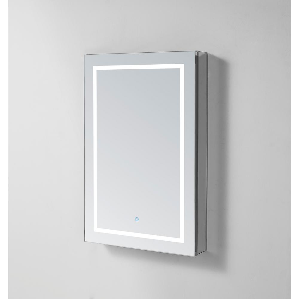 Aquadom Royale Plus 36 In W X 30 In H Recessed Or Surface Mount Medicine Cabinet With Bi View Door Led Lighting Mirror Defogger Rp 3630 The Home Depot