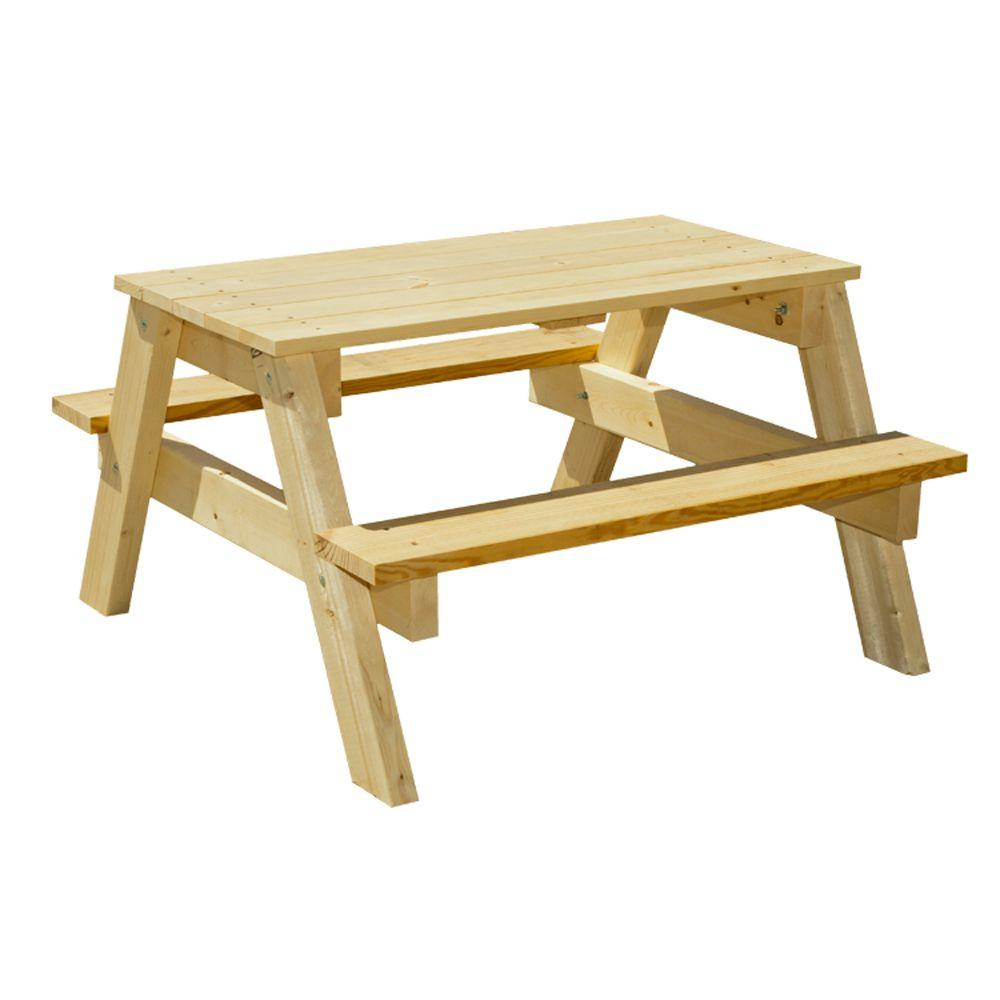 Junior Pine Picnic Table. Houseworks 3 ft  Junior Pine Picnic Table 94751   The Home Depot