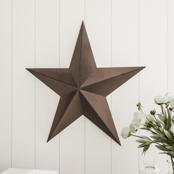 Lavish Home 24 In Rustic Barn Star Metal Wall Art Hw0200186 The Home Depot