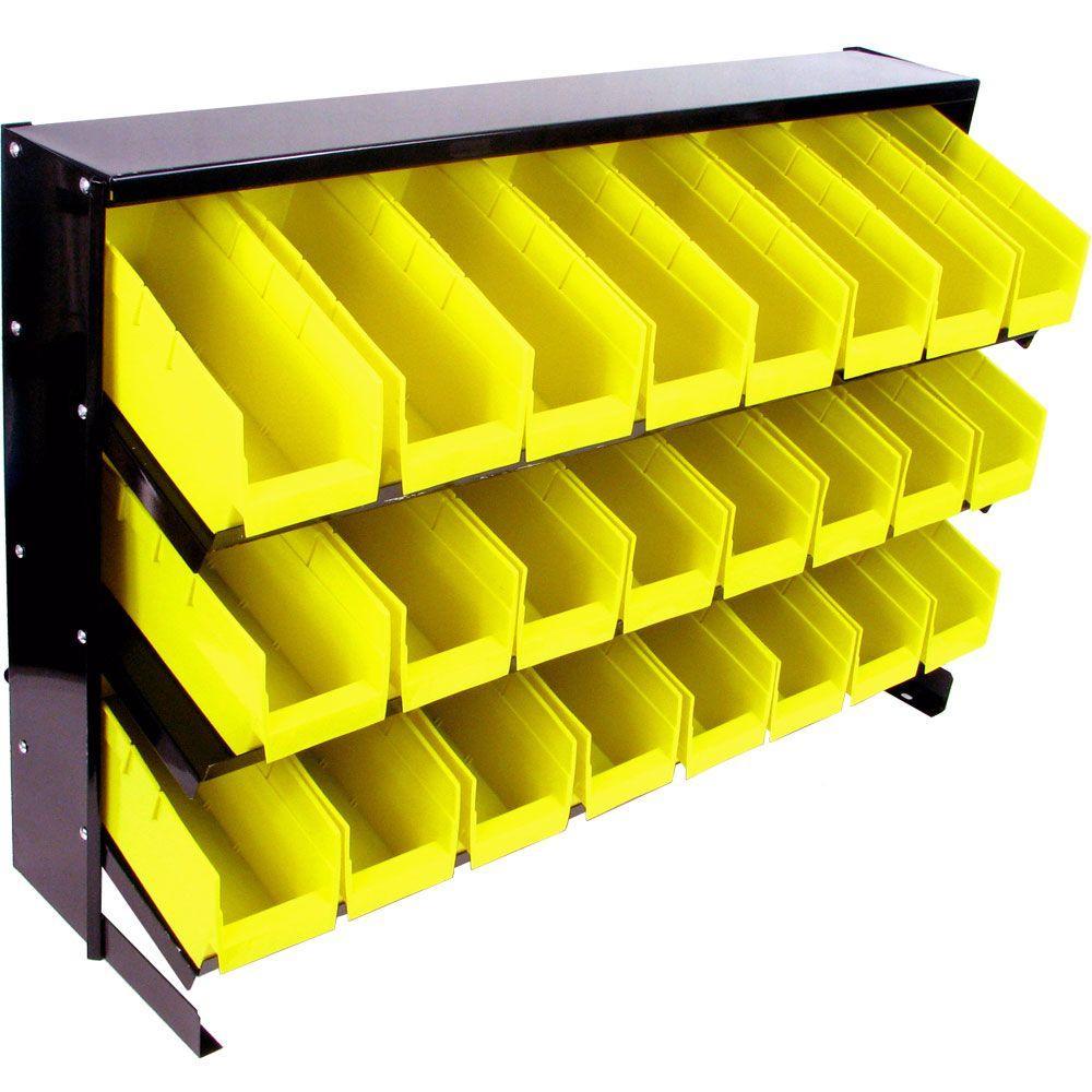 Stalwart 24 Bin Parts Storage Rack Trays by Stalwart
