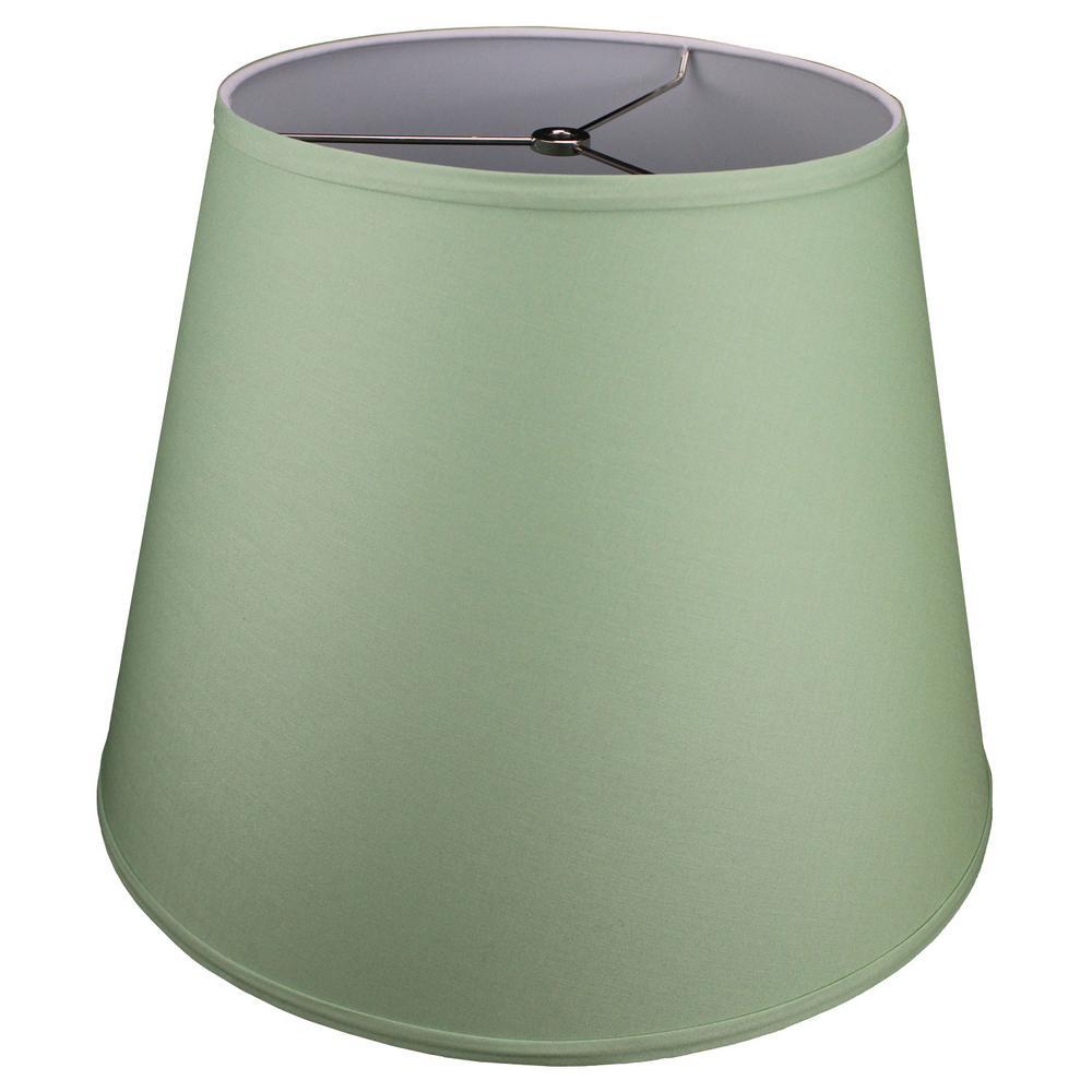 11 in. Top Diameter x 17 in. Bottom Diameter x 13 in. Slant Linen Celadon Empire Lamp Shade