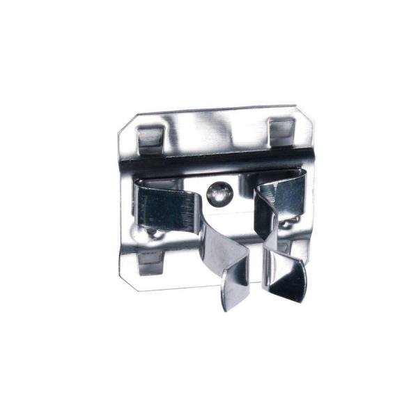 Extended Spring Clip Hold Range 3/4 in. -1-1/4 in. Stainless Steel LocBoard Hooks (3-Pack)
