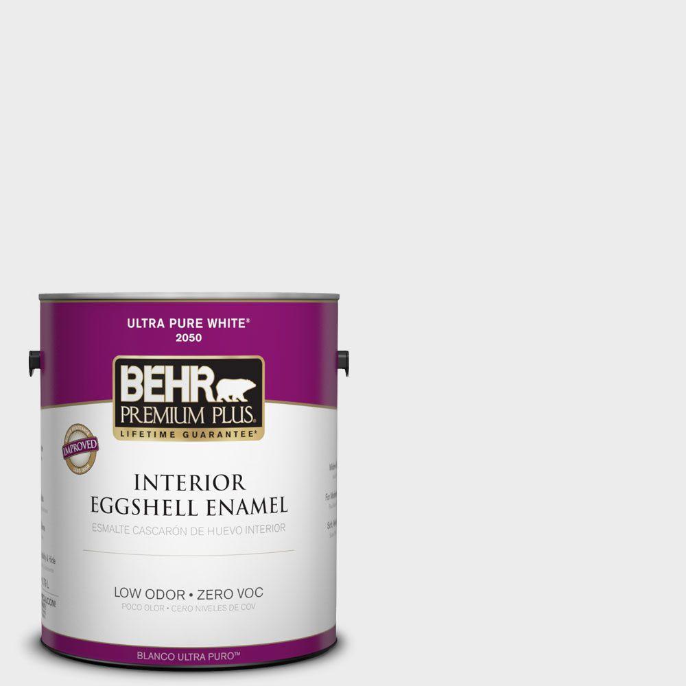 BEHR Premium Plus 1-gal. #PWN-36 Celestial Glow Zero VOC Eggshell Enamel Interior Paint
