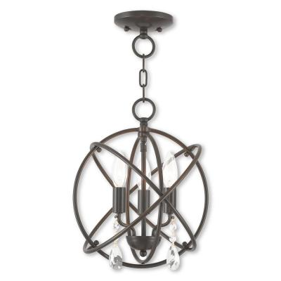 Aria 3-Light English Bronze Convertible Chandelier