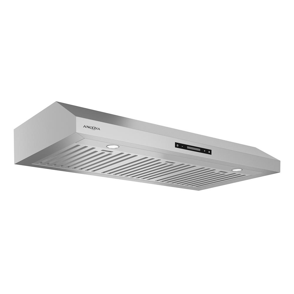 Ancona Slim Elite 36 In. Under Cabinet Range Hood With LED In Stainless  Steel