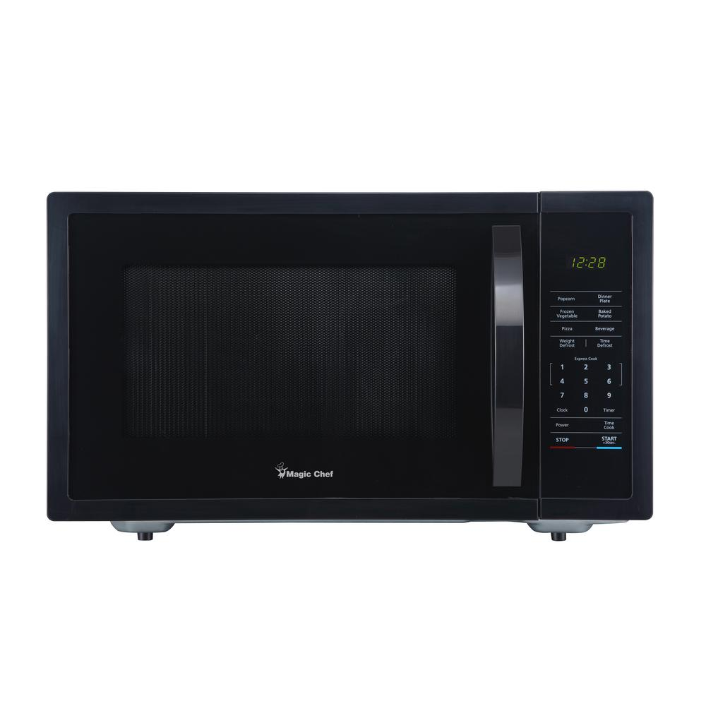 Magic Chef 1 6 Cu Ft Countertop Microwave In Black With Gray Cavity