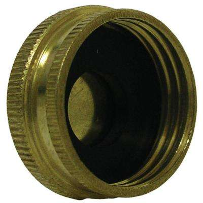 Lead-Free Brass Garden Hose Cap 3/4 in. FH
